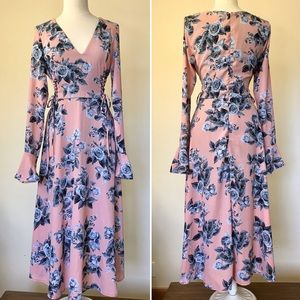 Free People Long Sleeve Floral Maxi Dress (S)